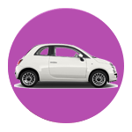 Car in circle